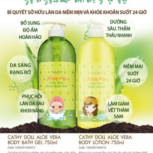 Sữa tắm Cathy Doll aloe ha aloe vera body bath gel